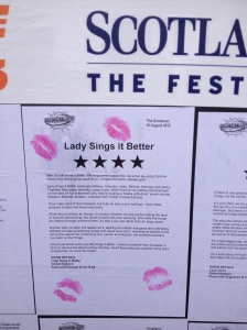 Scotsman Lady Sings it Better review